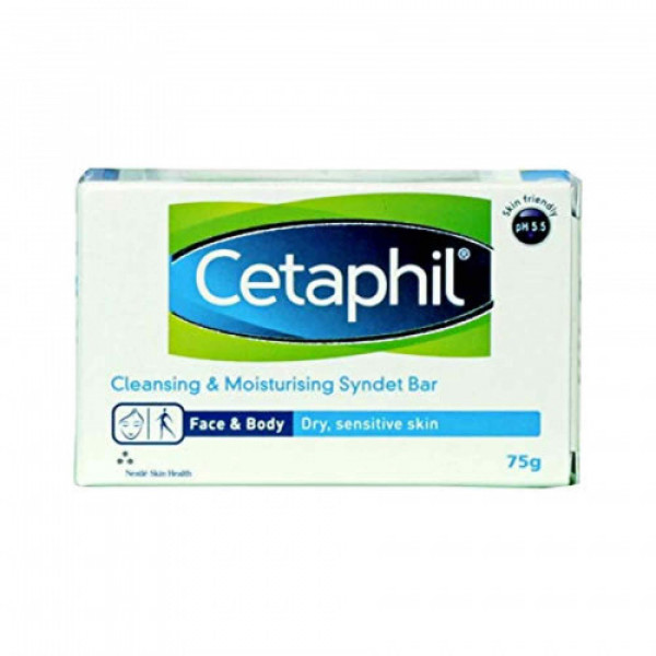Cetaphil Cleansing and Moisturizing Syndet Bar, 75gm