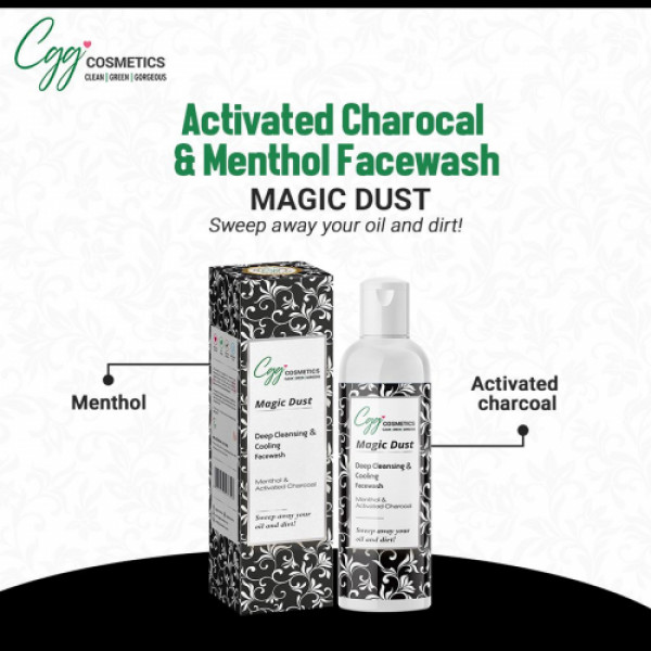 CGG Cosmetics Activated Charcoal & Menthol Face Wash, 100ml