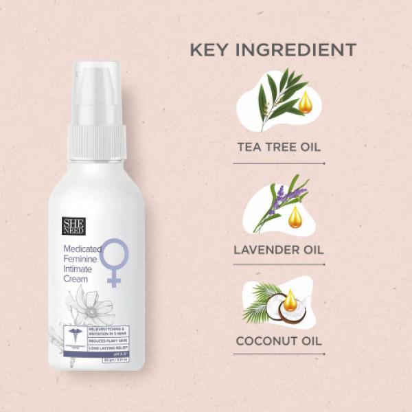 SheNeed Feminine Intimate Cream for Women, 30gm