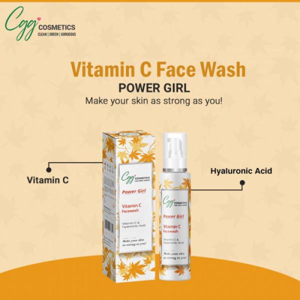 CGG Cosmetics Vitamin C & Hyaluronic Acid Face Wash, 100ml