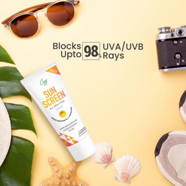CGG Cosmetics Sunscreen Cream, SPF 45, PA+++, 50Gm