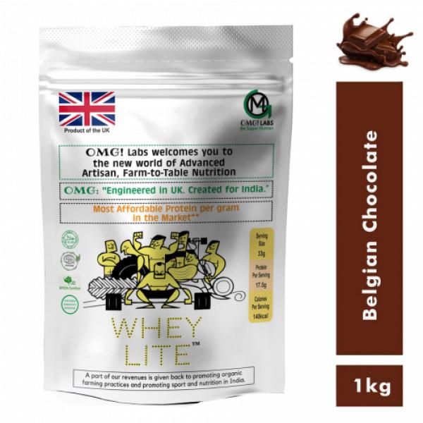 OMG Whey Lite Belgian Chocolate, 1kg