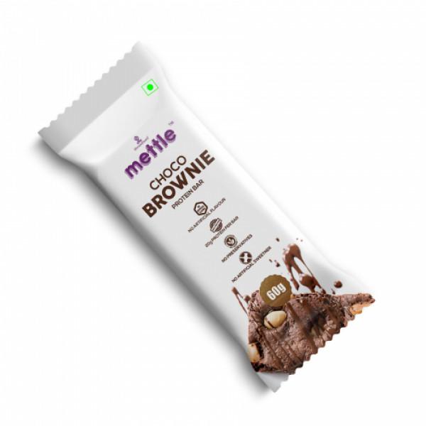 Mettle Choco Brownie Protein Bar, 60gm (Pack Of 6)