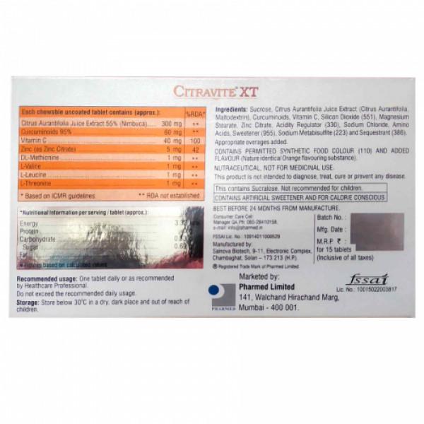 Citravite XT, 15 Tablets