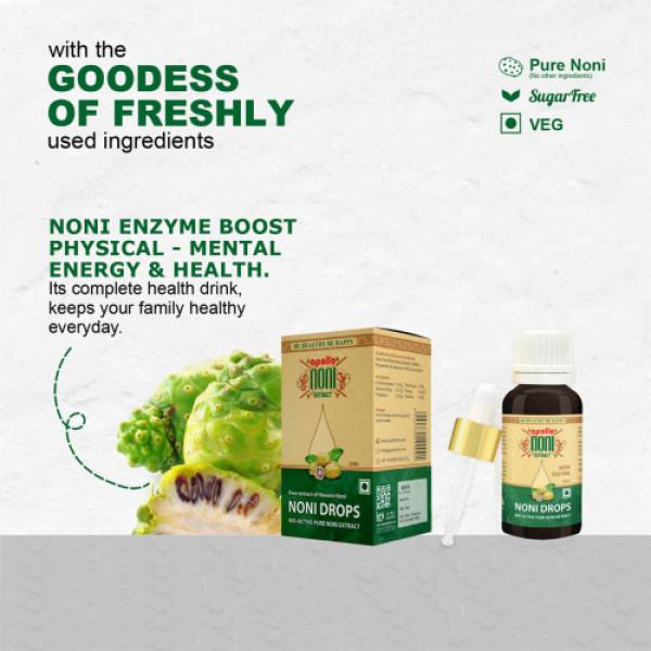 Apollo Noni Enzyme Bio-active Pure Noni Extract Drops, 20ml