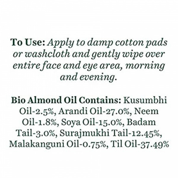 Biotique Bio Almond Oil Soothing Face & Eye Make Up Cleanser, 120ml