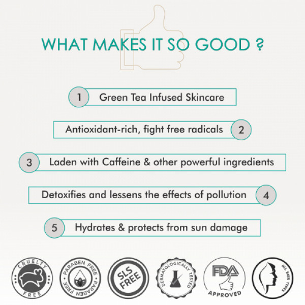 mCaffeine Green Tea Day Hydration Routine, 140ml