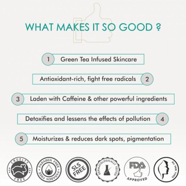 mCaffeine Green Tea Night Hydration Routine, 150ml