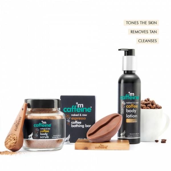 mCaffeine Espresso Body De-Tan Kit, 400gm