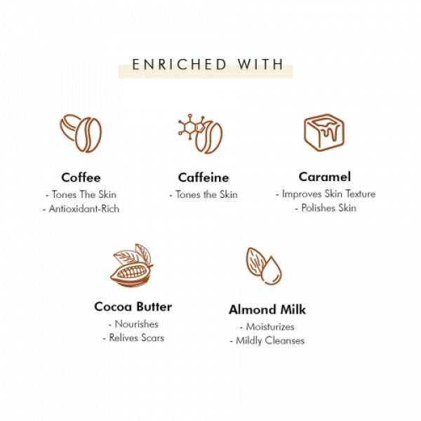 mCaffeine Daily Latte Bath Kit, 350gm