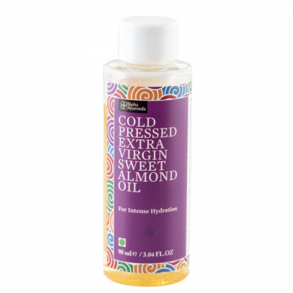 Bipha Ayurveda Cold Pressed Extra Virgin Sweet Almond Oil, 90ml