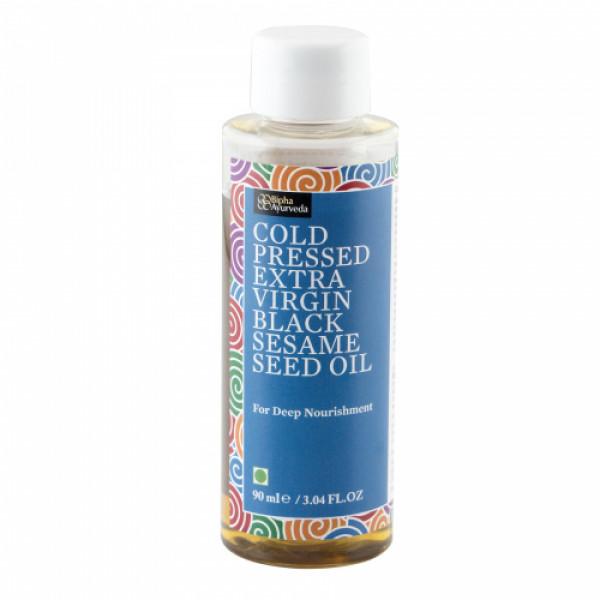Bipha Ayurveda Cold Pressed Extra Virgin Black Sesame Seed Oil, 90ml