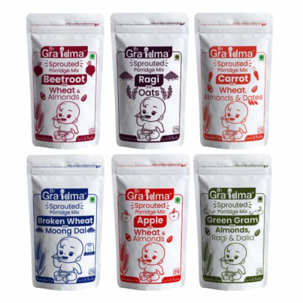 ByGrandma Porridge Mix, 50gm (Pack of 6)