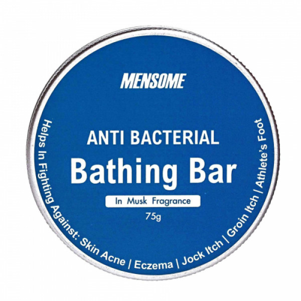 Mensome Anti Bacterial Bathing Bar, 75gm (Pack Of 8) - Musk Fragrance
