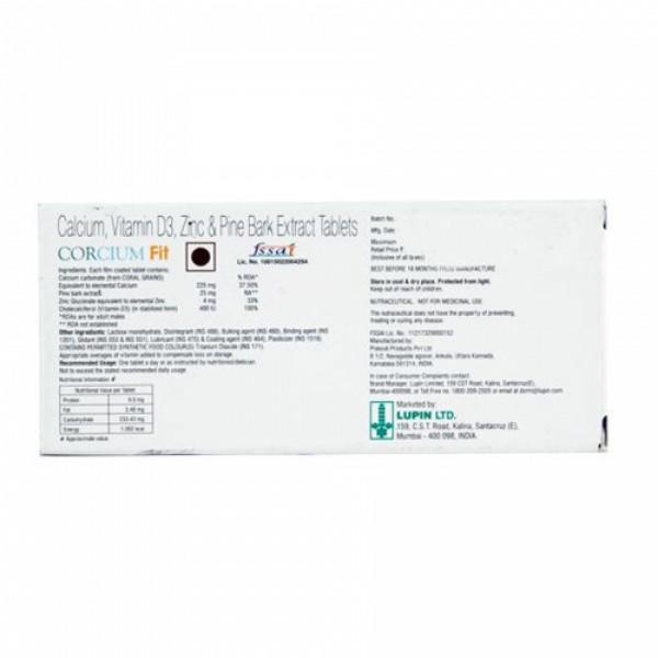 Corcium Fit, 10 Tablets