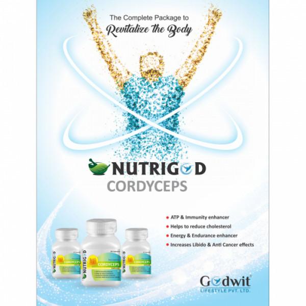 Nutrigod Cordyceps Militaris, 30 Capsules