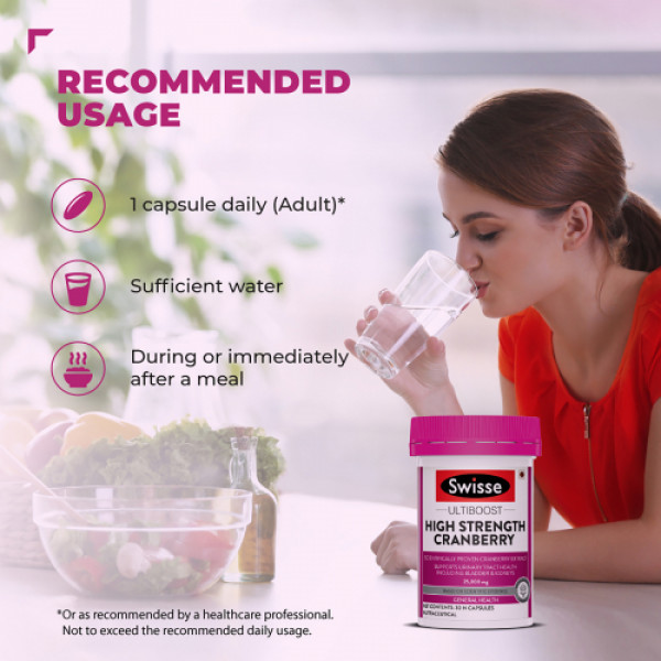 Swisse Ultiboost High Strength Cranberry Antioxidant Rich Supplements, 30 Tablets