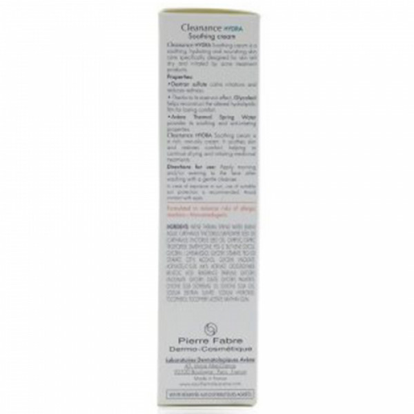 Avene Cleanance Hydra Soothing Cream, 40ml