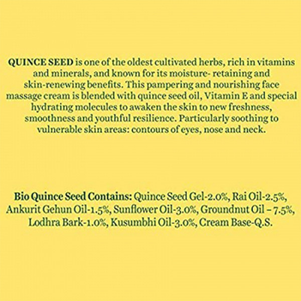 Biotique Bio Quince Seed Nourishing Face Massage Cream, 50gm