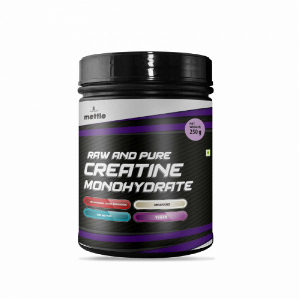 Mettle Raw And Pure Creatine Monohydrate, 250gm