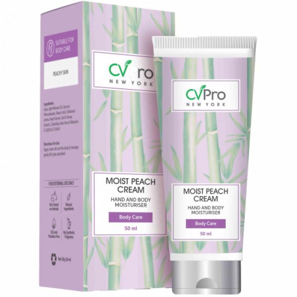 CVPro Moist Peach Hand and Body Moisturizer Cream, 50ml