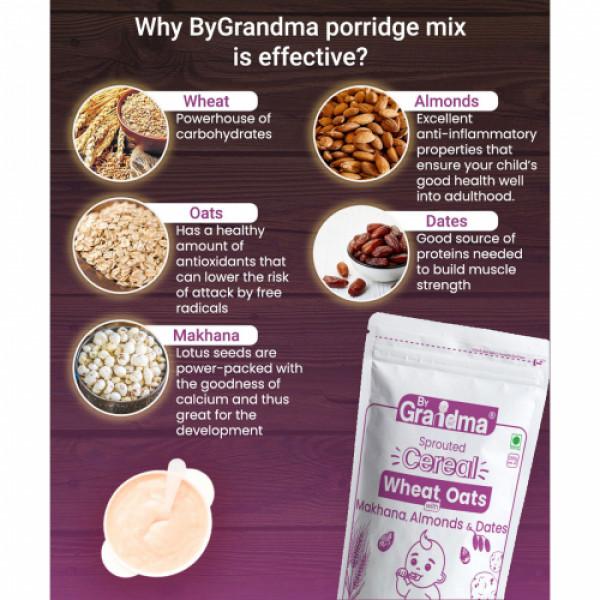 ByGrandma Wheat, Oats With Makhana, Almond & Dates Health Porridge Mix, 280gm