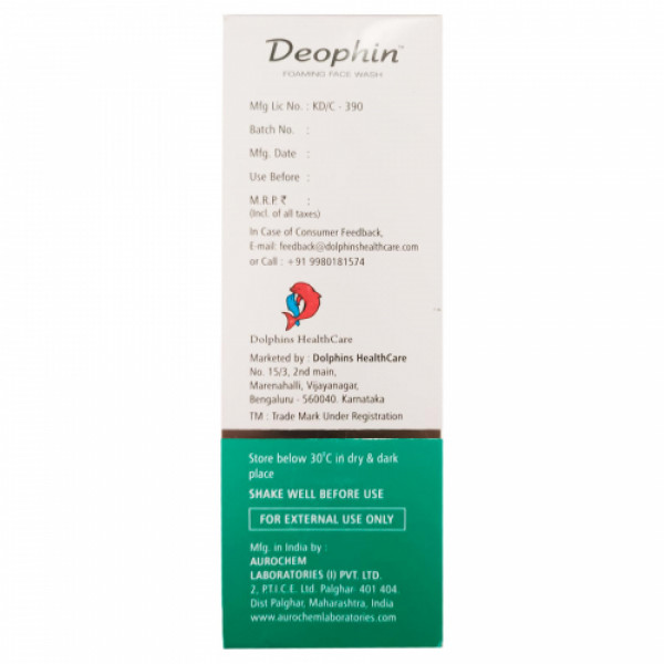 Deophin Foaming Face Wash, 60ml