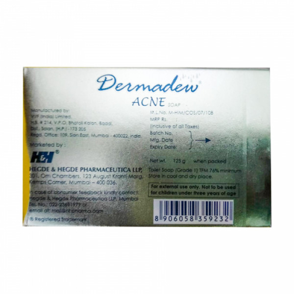 Dermadew Acne Soap, 125gm