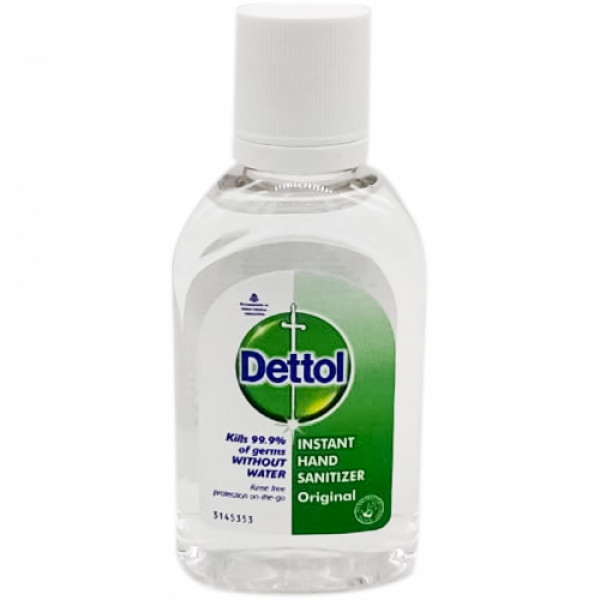 Dettol Instant Disinfectant Hand Sanitizer 72.34% Alcohol, 60ml - Kills 99.9% Germs (Pack Of 5)