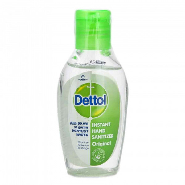 Dettol Instant DisinfectantHand Sanitizer 72.34% Alcohol, 50ml - Kills 99.9% Germs (Pack Of 6)