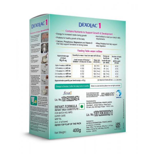 Dexolac - 1 Infant Formula Refill Pack, 400gm