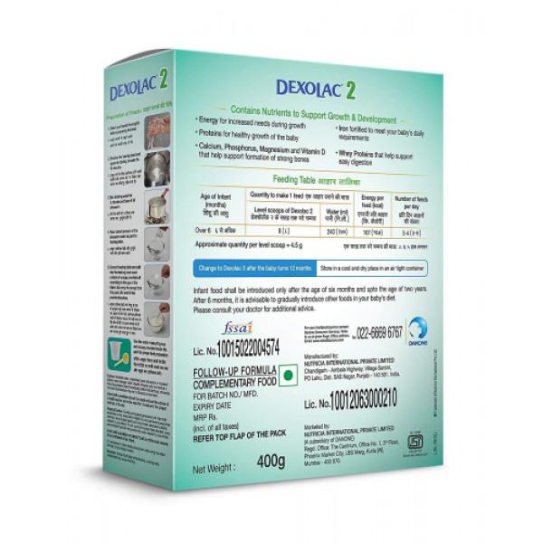 Dexolac - 2 Follow-Up Formula Refill Pack, 400gm