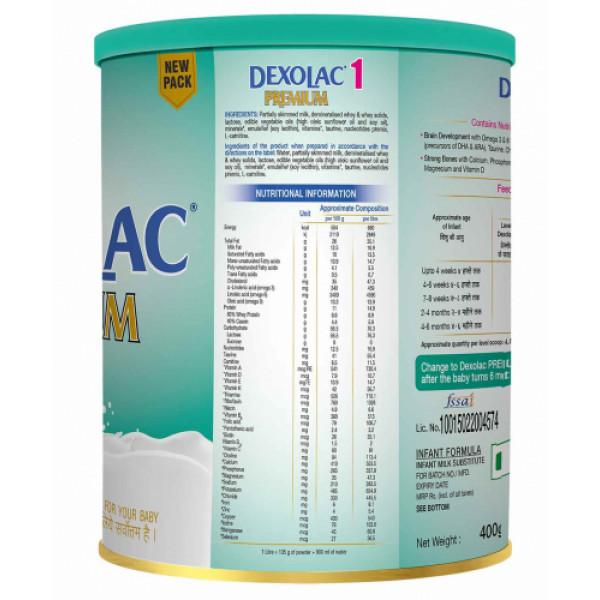 Dexolac - 1 Premium Infant Formula Tin, 400gm