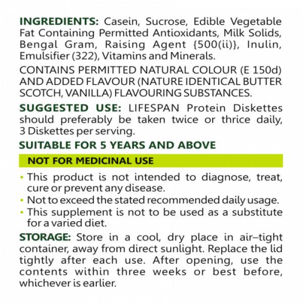 Lifespan Protein Diskettes Vanilla, 200gm