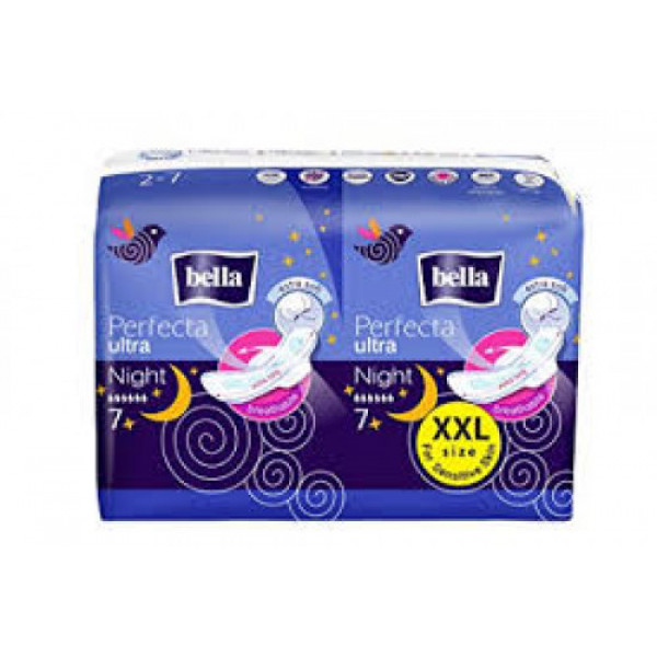 Bella Perfecta Ultrathin Sanitary Napkins Night Soft, 14 Pieces