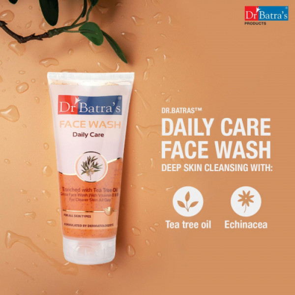 Dr Batra's Face Wash Daily Care, 100gm (Pack of 4)