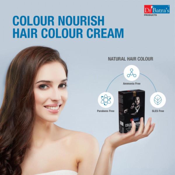 Dr Batra's Colour Nourish Hair Colour Cream (Black) With Colour Nourish Hair Colour Cream (Brown) Combo Pack