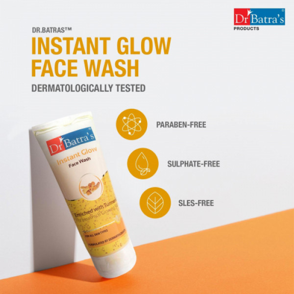 Dr Batra's Face Wash Instant Glow, 100gm (Pack of 4)