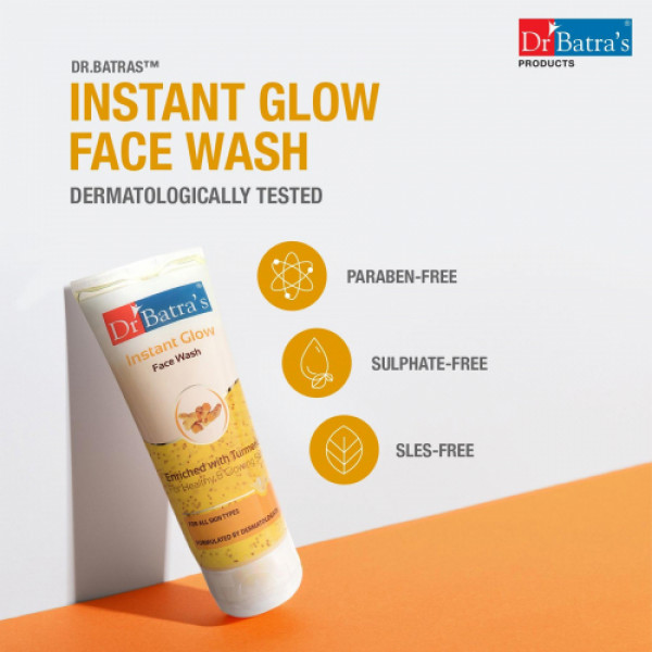 Dr Batra's Instant Glow Face Wash, 100ml (Pack of 2)