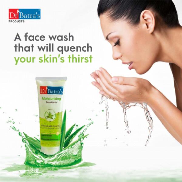 Dr Batra's Face Wash Moisturizing, 50gm (Pack of 4)