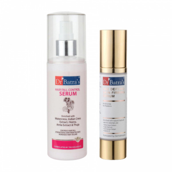 Dr Batra's Hair Fall Control Serum With Age defying Skin firming Serum Combo Pack