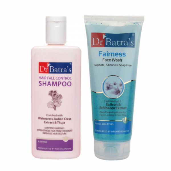 Dr Batra's Hair Fall Control Shampoo With Face Wash Combo Pack