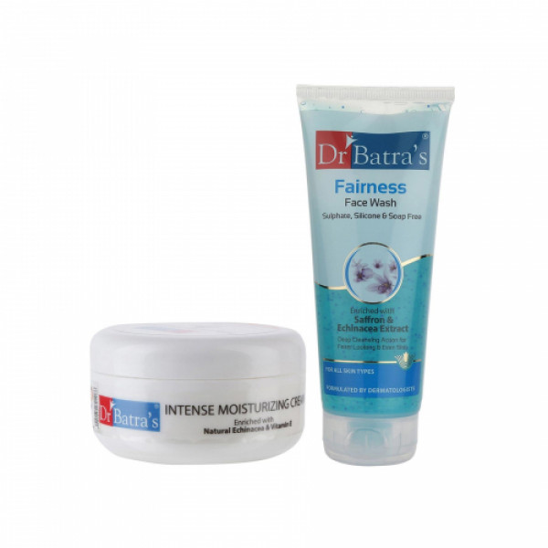 Dr Batra's Intense Moisturizing Cream With Face Wash Combo Pack