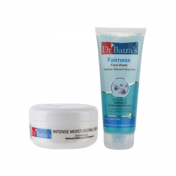Dr Batra's Intense Moisturizing Cream With Face Wash Moisturizing Combo Pack