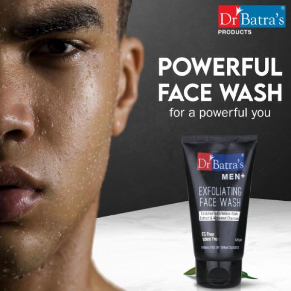 Dr Batra's Men+ Exfoliating Face Wash, 125gm (Pack of 4)