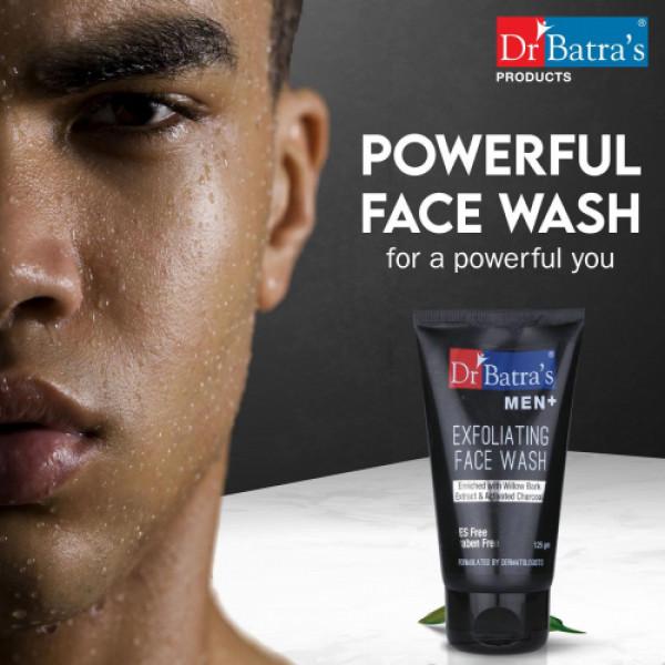 Dr Batra's Men+ Exfoliating Face Wash, 125gm (Pack of 3)