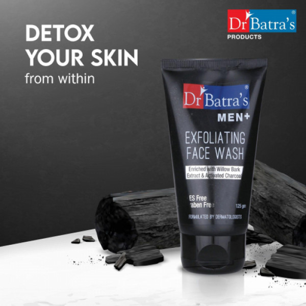 Dr Batra's Men Exfoliating Face Wash With Deo For Men And Hair Gel Combo Pack
