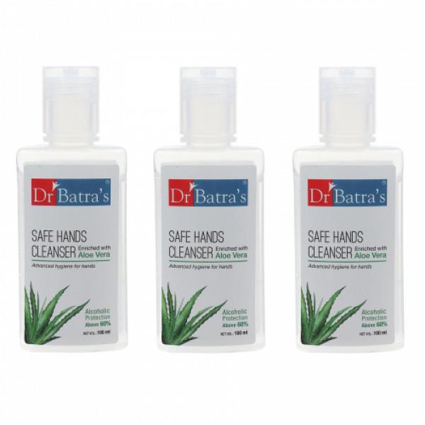 Dr Batra's Safe Hands Cleanser, 100ml (Pack of 3)