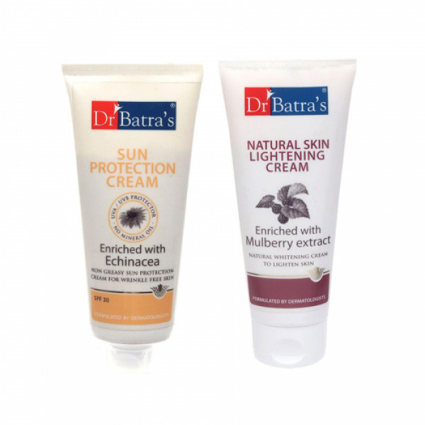 Dr Batra's Sun Protection Cream With Natural Skin Cream Combo Pack