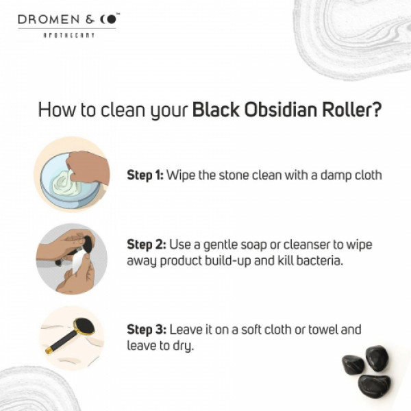 Dromen & Co Black Obsidian Facial Roller For Men